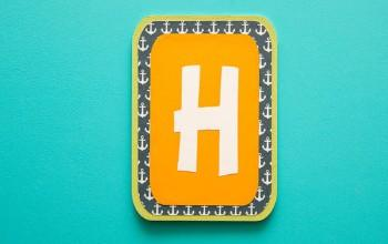 Letra H decorada